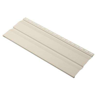 Evolutions Double 4.5 in. x 24 in. Dutch Lap Vinyl Siding Sample in Sand