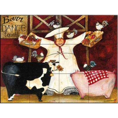 Barn Dance 24 in. x 18 in. Ceramic Mural Wall Tile