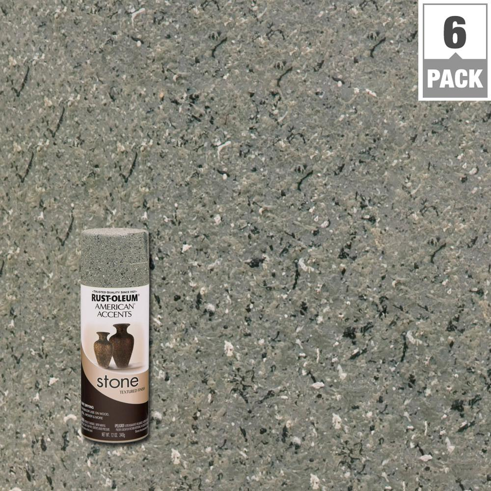 Rust Oleum American Accents 12 Oz Stone Creations Gray Textured Finish Spray Paint