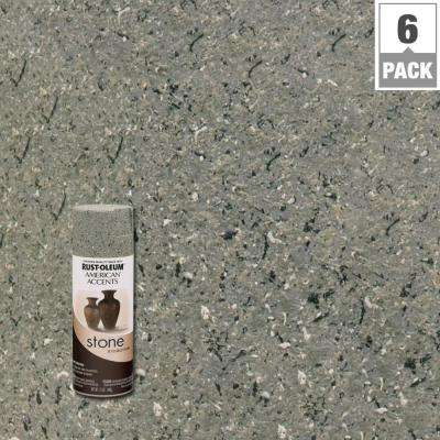 12 oz. Stone Creations Gray Stone Textured Finish Spray Paint (6-Pack)
