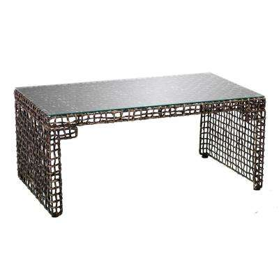 Hana Blackwashed Brown Woven Cocktail Table