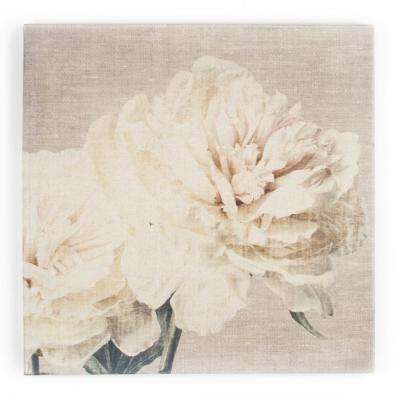 "24 in. x 24 in. ""Cream Petals"" by Graham and Brown Printed Canvas Wall Art"