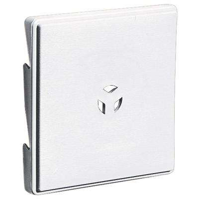 6.625 in. x 6.625 #001 White Triple 3-Surface Universal Mounting Block