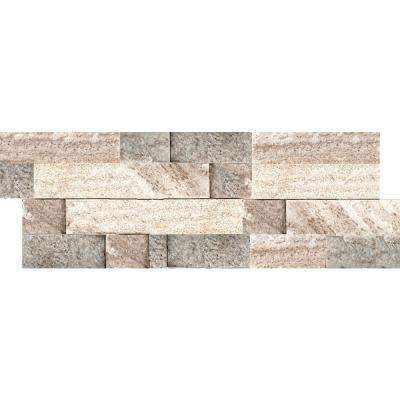 Slate Cream Gold 6 in. x 24 in. Stacked Quartzite Wall Tile