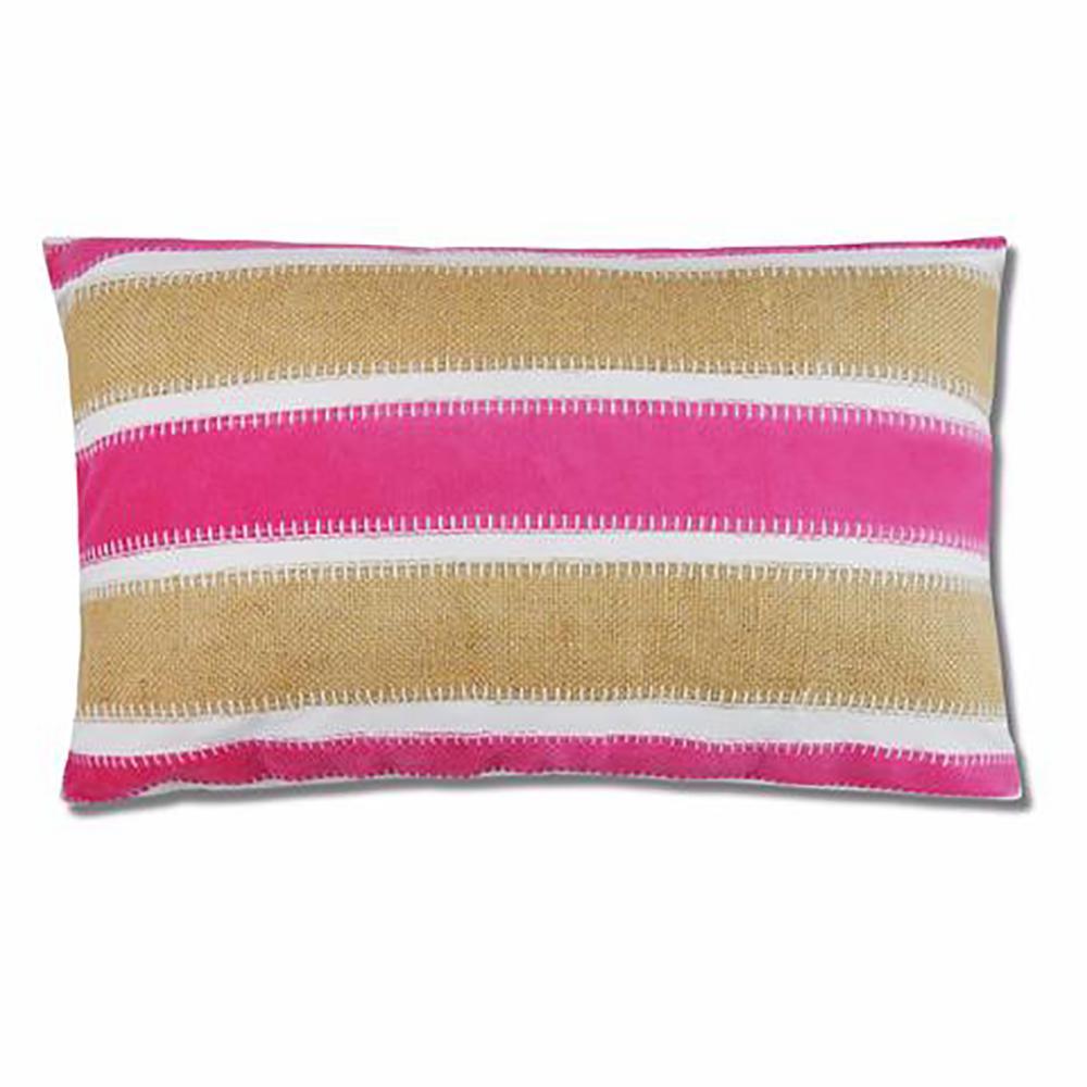 Velvet Fuchsia Stripe Pillow
