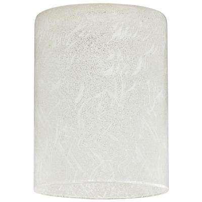 5-3/16 in. Hand Blown Ice Glass Cylinder Shade with 2-1/4 in. Fitter and 4 in. W