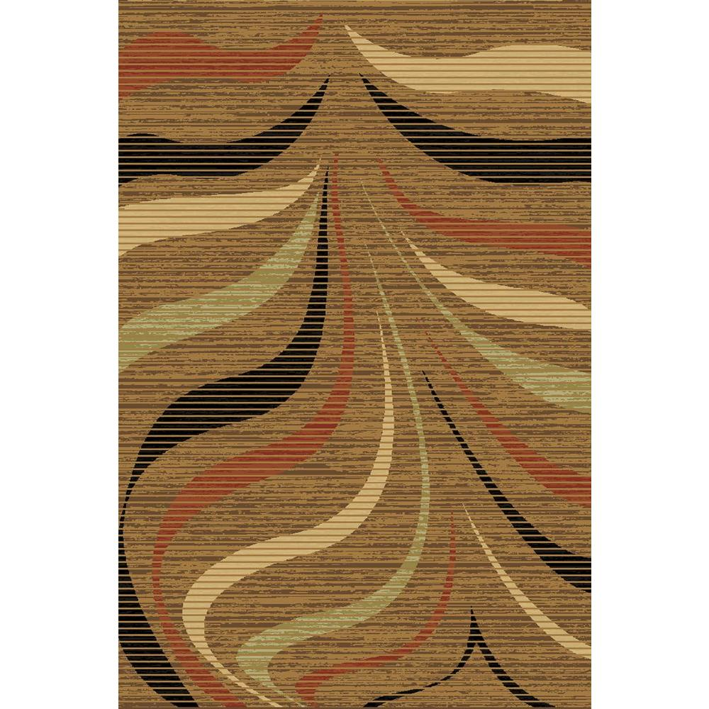 LA Rug Top View of the Zebra mostly Light Brown Crown Collection 39 in. x 58 in. Indoor Area Rug