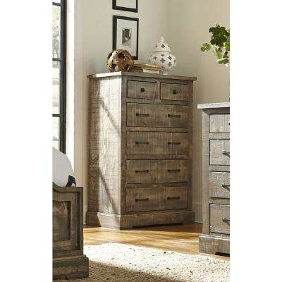 Meadow 6-Drawer Weathered Gray Chest