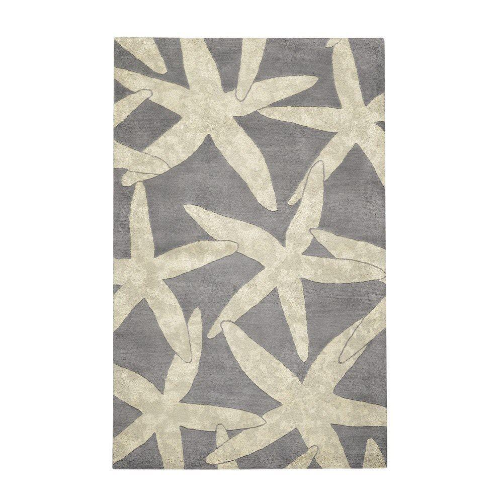 Home Decorators Collection Starfish Grey 8 ft. x 11 ft. Area Rug
