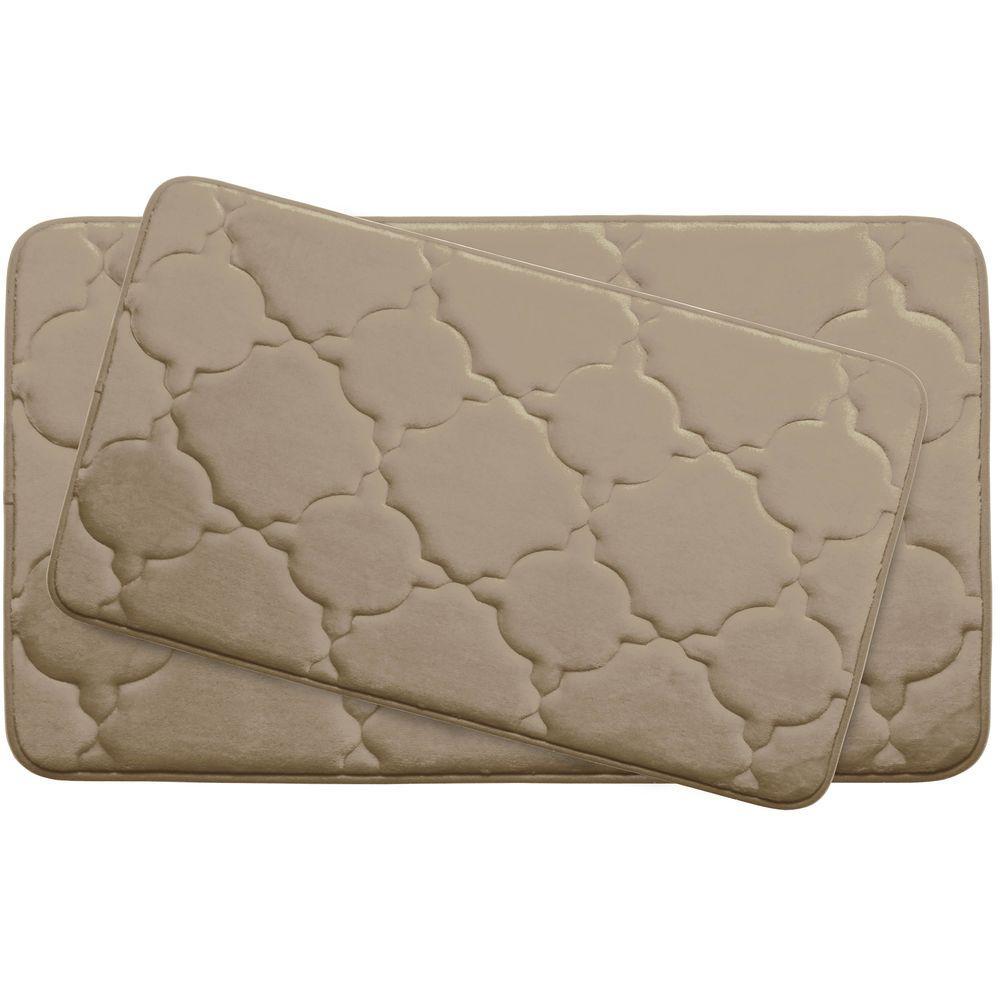 Dorothy Linen Memory Foam 2-Piece Bath Mat Set