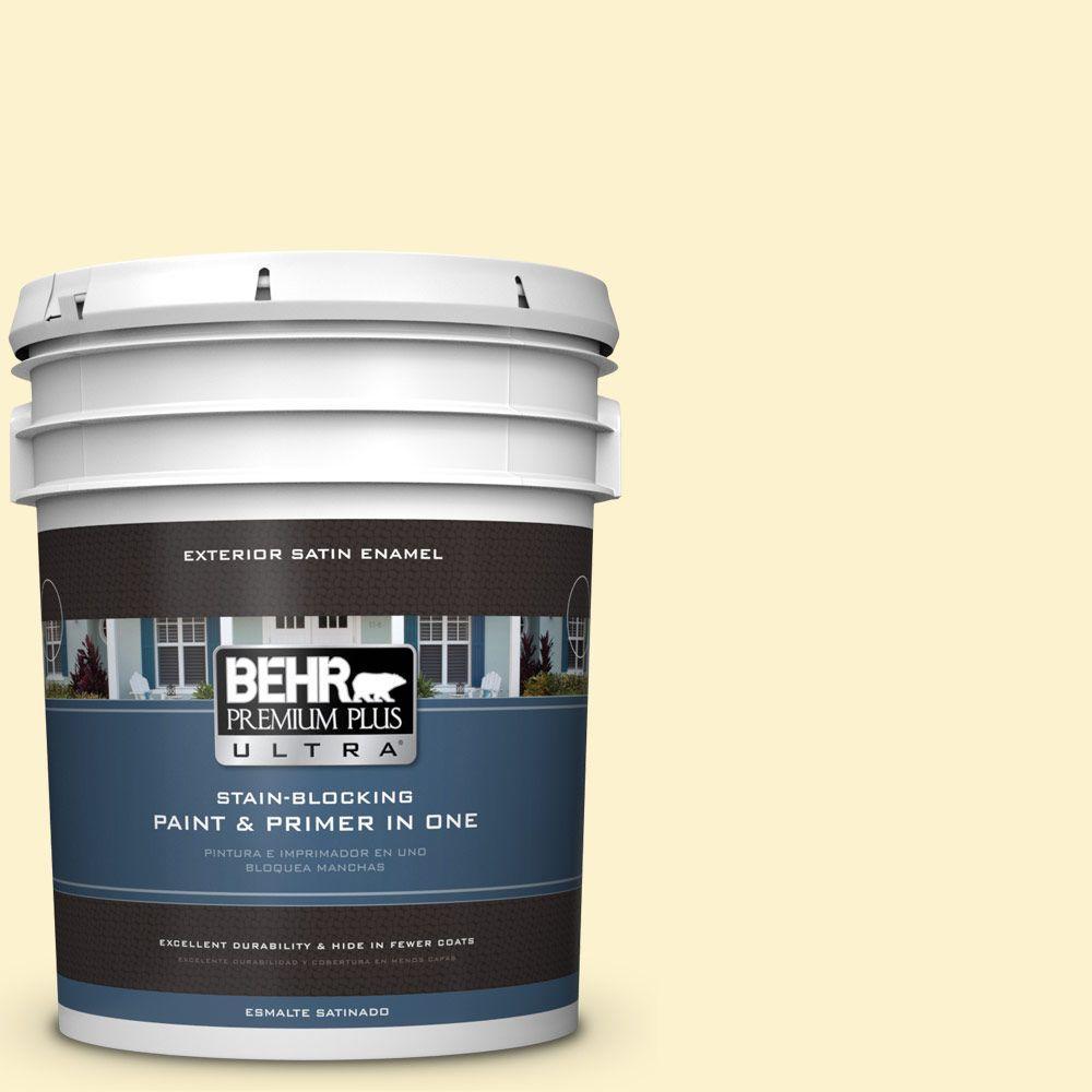 BEHR Premium Plus Ultra 5-gal. #380C-2 Desert Lily Satin Enamel Exterior Paint