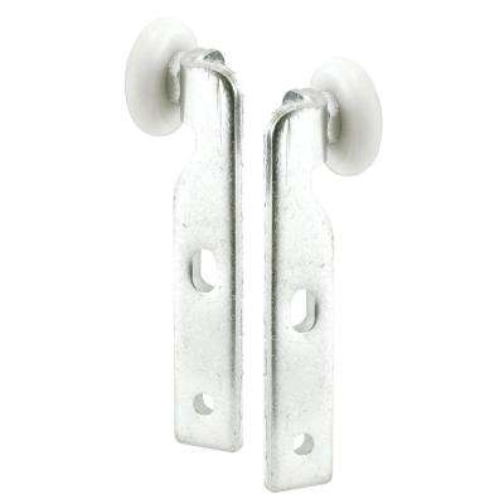 Closet Door Roller, 1Lt/1Rt, 7/8 in. Nylon Ball Bearing Wheel