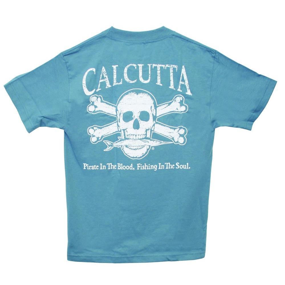 Adult Small Original Logo Short Sleeved T-Shirt in Denim Blue
