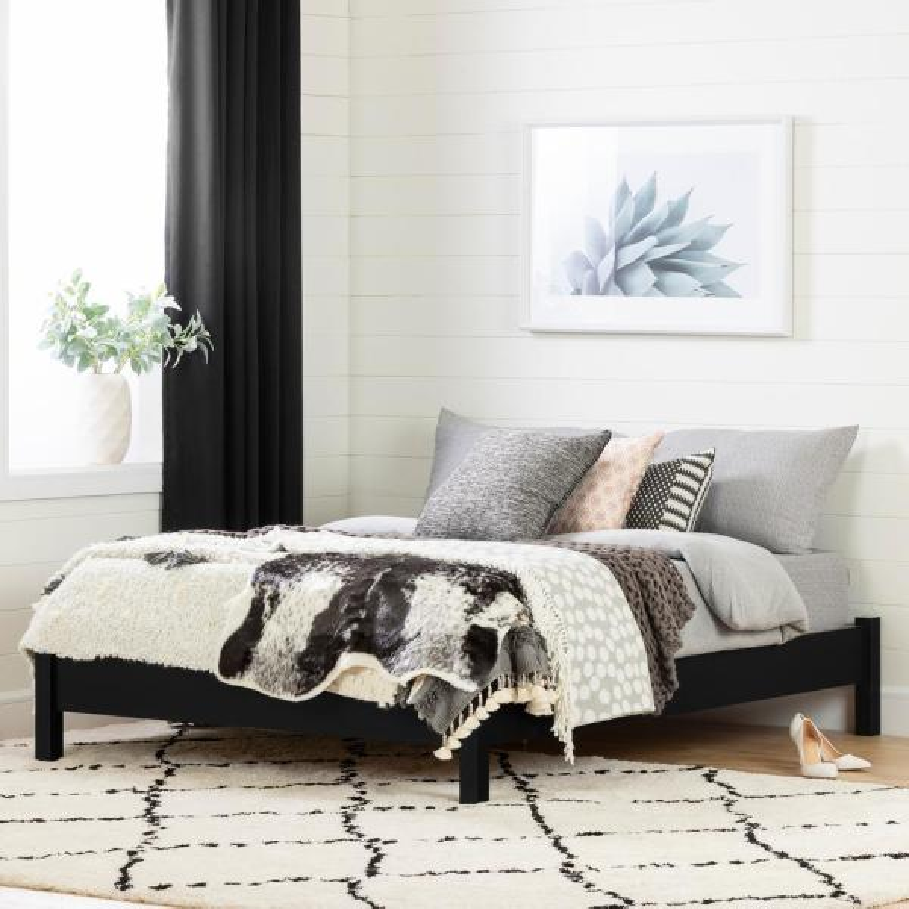South Shore Cavalleri Pure Black Full Bed 12237