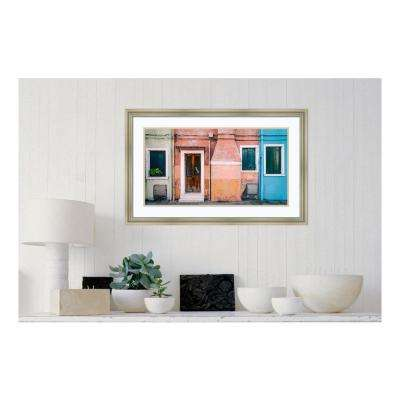 34 in. W x 22 in. H 'Pastel Street' by Luc Vangindertael (laGrange) Framed Print Wall Art