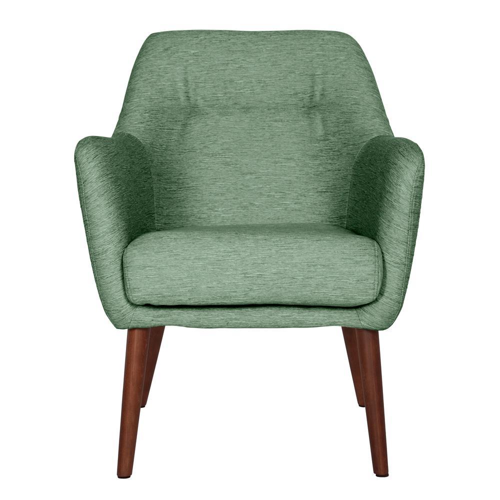 Handy Living Juurg Mid Century Modern Arm Chair In Green Textured Strie