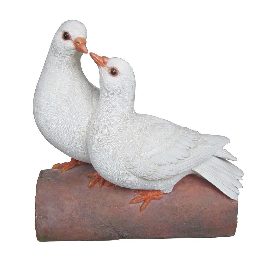 2 Doves On Log