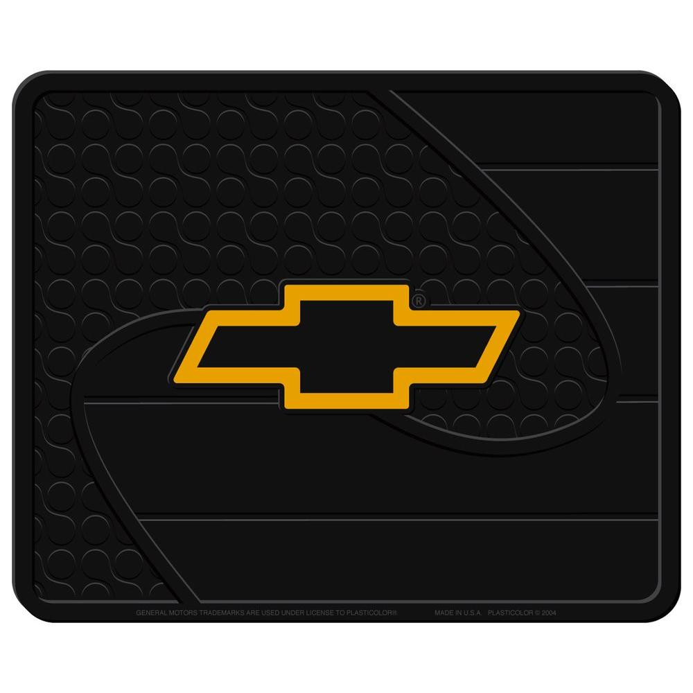 null Chevy Heavy Duty Vinyl 17 in. x 14 in. Utility Car Mat