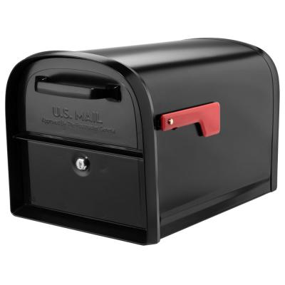 Oasis 360 Locking Parcel Mailbox with 2-Access Doors Black