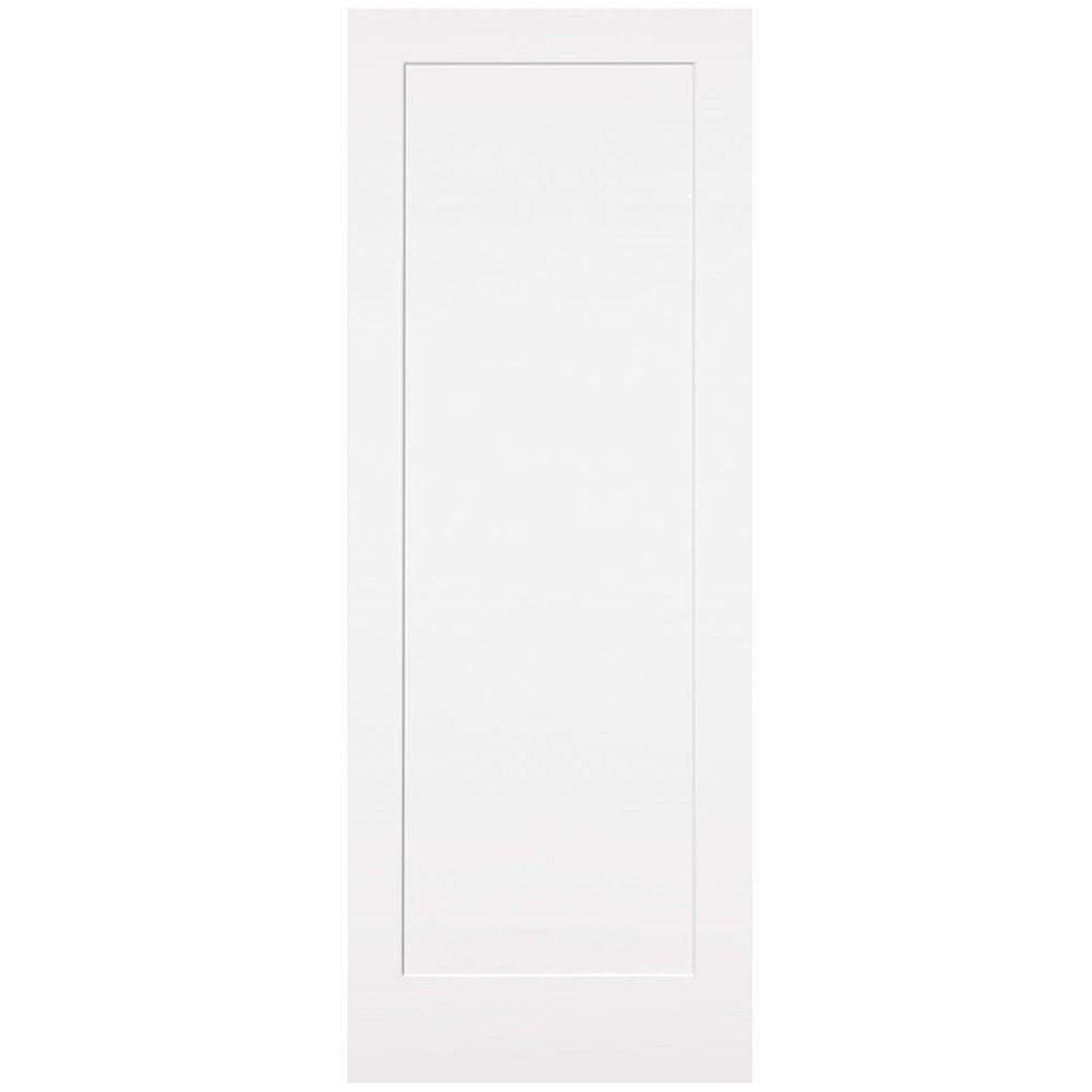30 in. x 84 in. Primed 1-Panel Shaker Flat Panel Solid