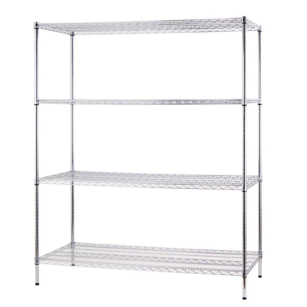 Seville Classics 5-Shelf 30 in. x 14 in. Home Wire Shelving System ...