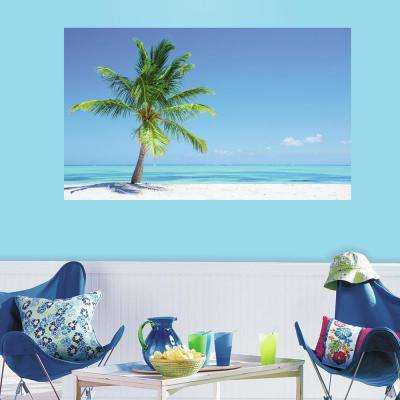 60 in. W x 36 in. H Palm Tree 2- Piece Peel and Stick Wall Decal Mural