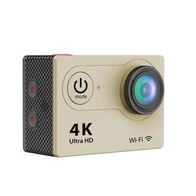 4K Waterproof 12 Mega Pixel Ultra HD Action Camera with Wi-Fi in Gold