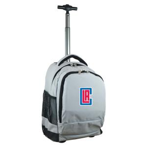 NBA Los Angeles Clippers 19 in. Gray Wheeled Premium Backpack