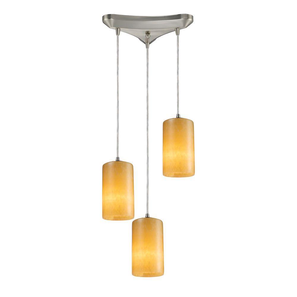 Coletta 3-Light Satin Nickel Ceiling Pendant