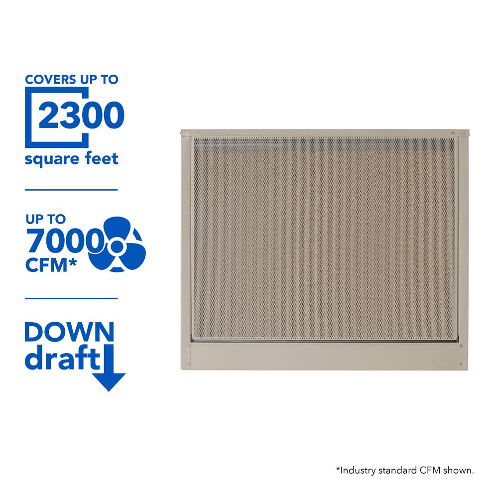 MasterCool 7000 CFM Down-Draft Roof 8 in. Media Evaporative Cooler for 2300 sq. ft. (Motor Not Included)