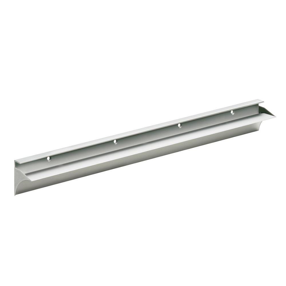 Rail 31-1/2 in. L Shelf Bracket Set in Silver