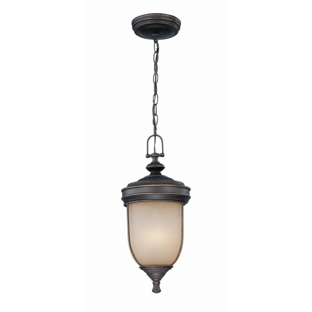Illumine Designer 3-Light Outdoor Dark Bronze Incandescent Hanging Light