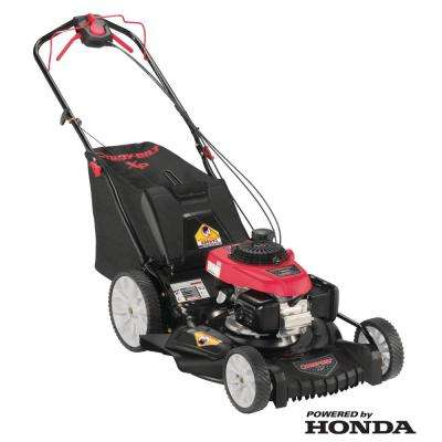 XP 21 in. 160 cc Honda Gas Walk Behind Self Propelled Lawn Mower with High Rear Wheels, 3-in-1 TriAction Cutting System