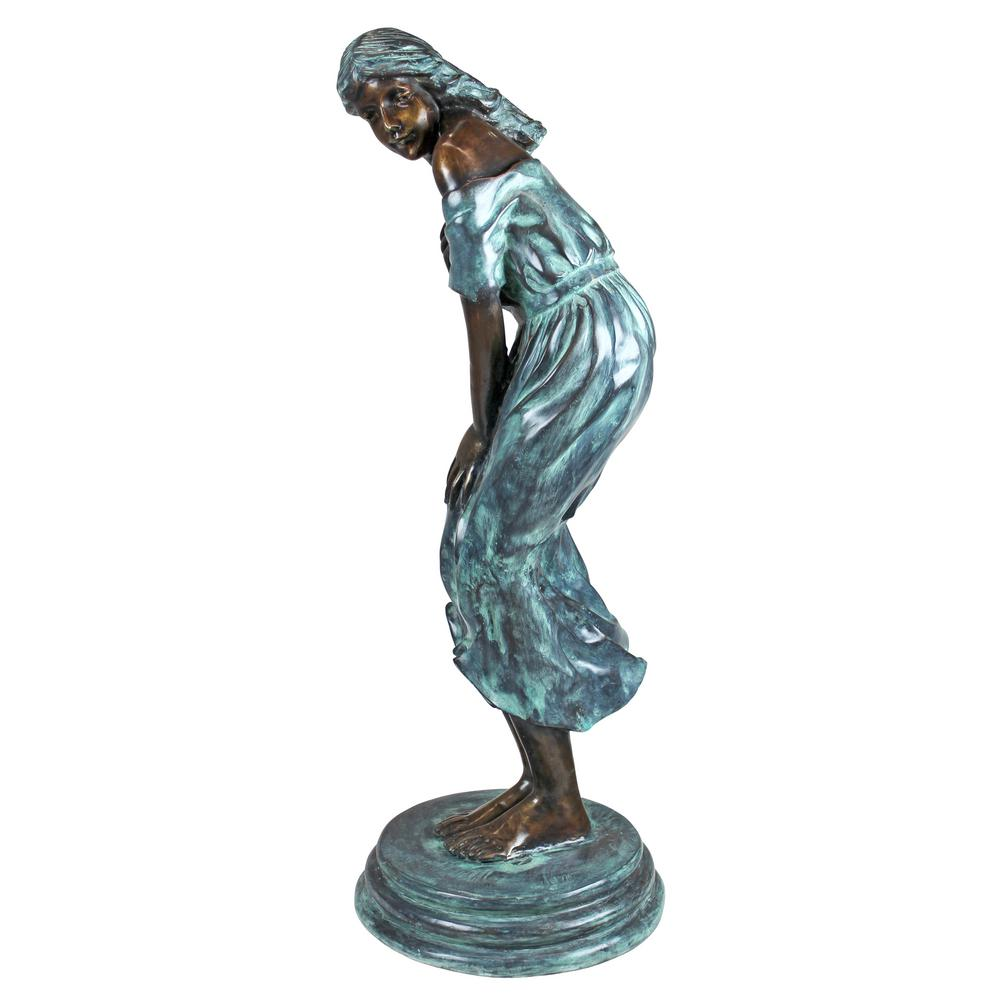 Superieur H The Windblown Maiden Cast Bronze Garden Statue