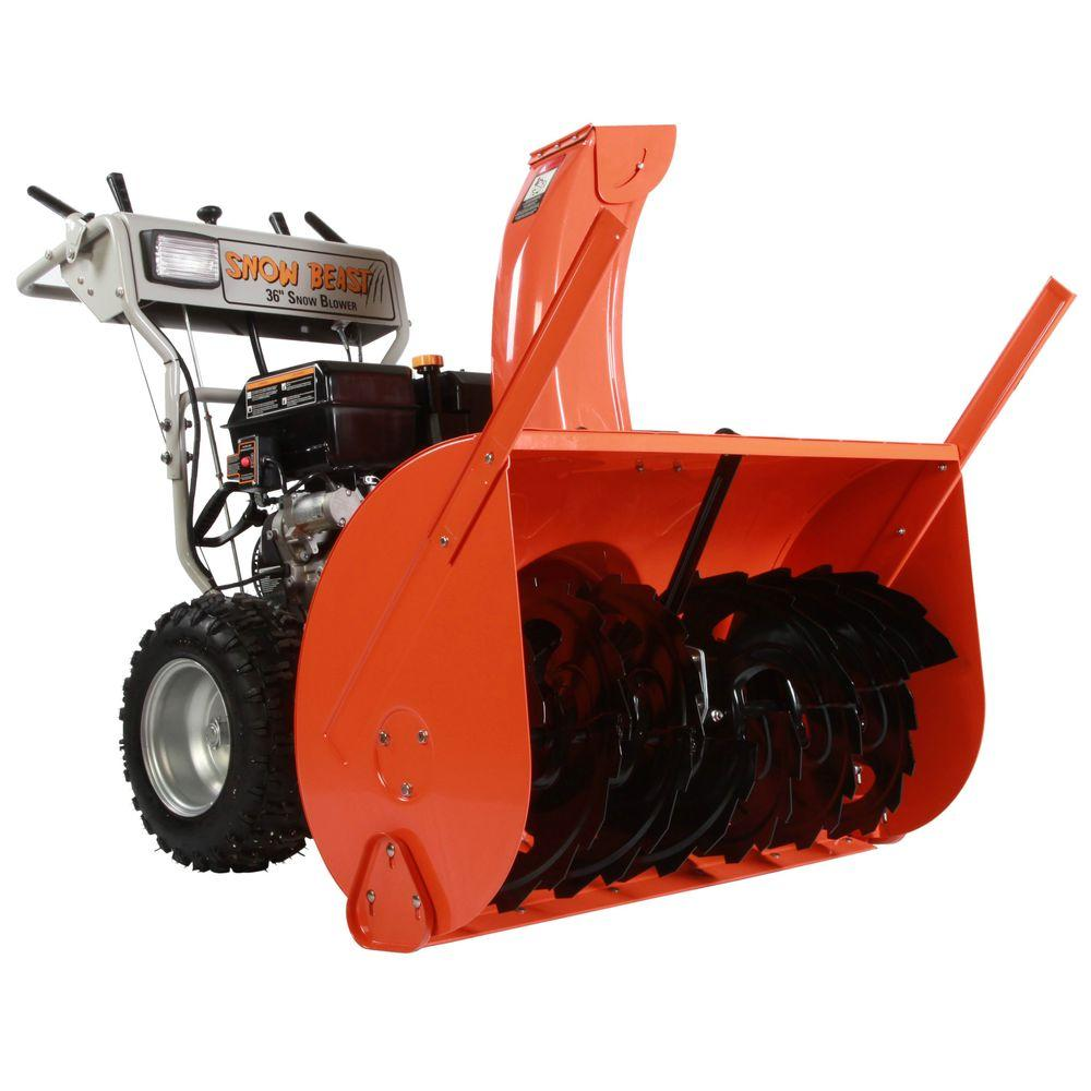 Beast 36 in. Commercial 420cc Two-Stage Electric Start Gas Snow Blower