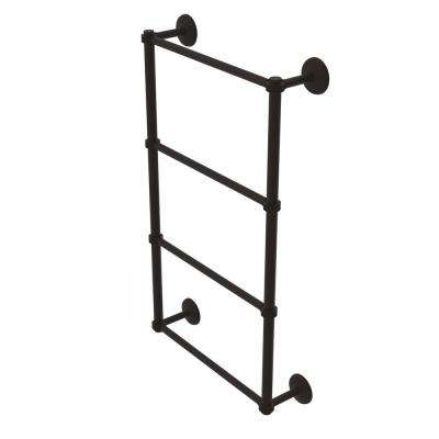 Monte Carlo Collection 4-Tier 24 in. Ladder Towel Bar with Dotted Detail in Oil Rubbed Bronze