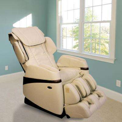 Osaki Tan Faux Leather Reclining Massage Chair