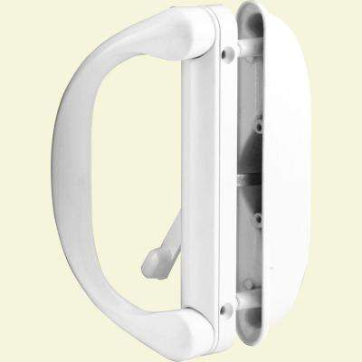 White Sliding Door Handle Set With Latch