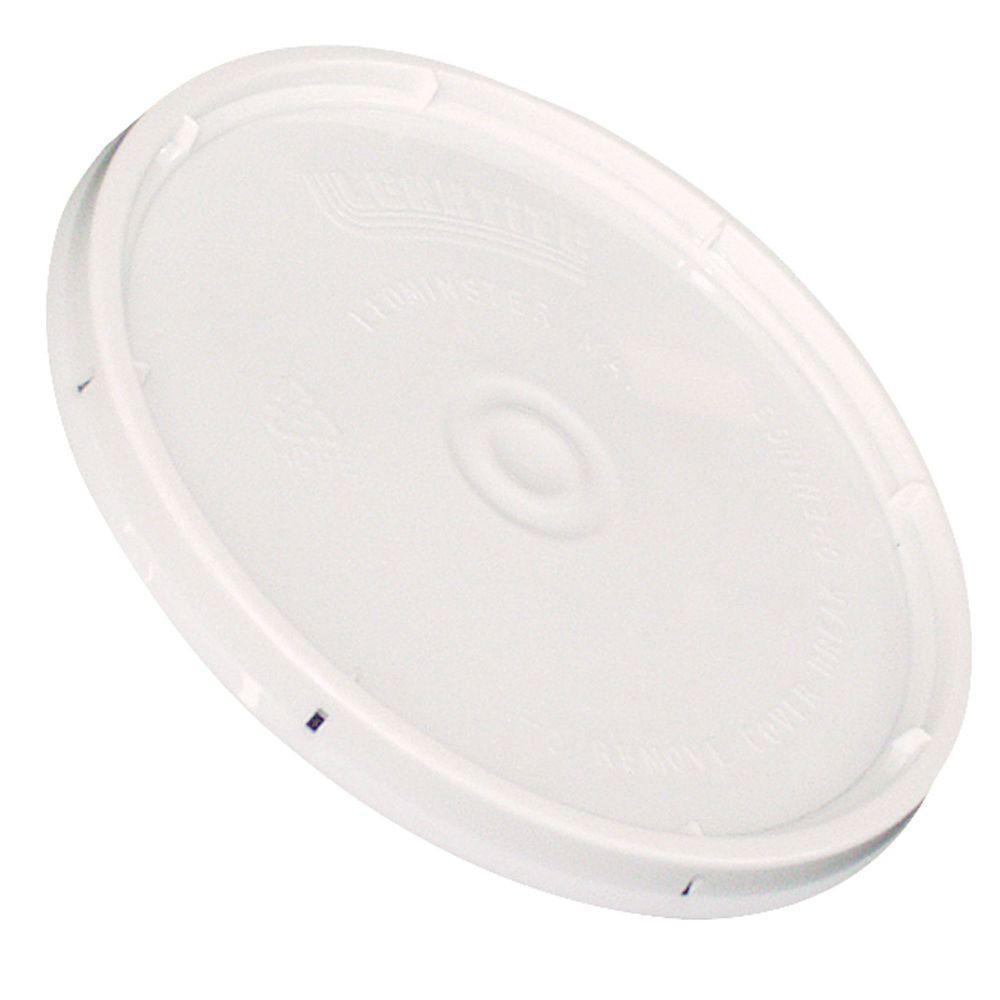 2-gal. White Plastic Bucket Lid (Pack of 3)