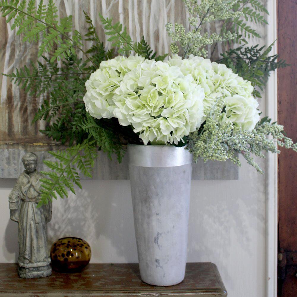Indoor Light Green Hydrangea Stem (Set of 12)