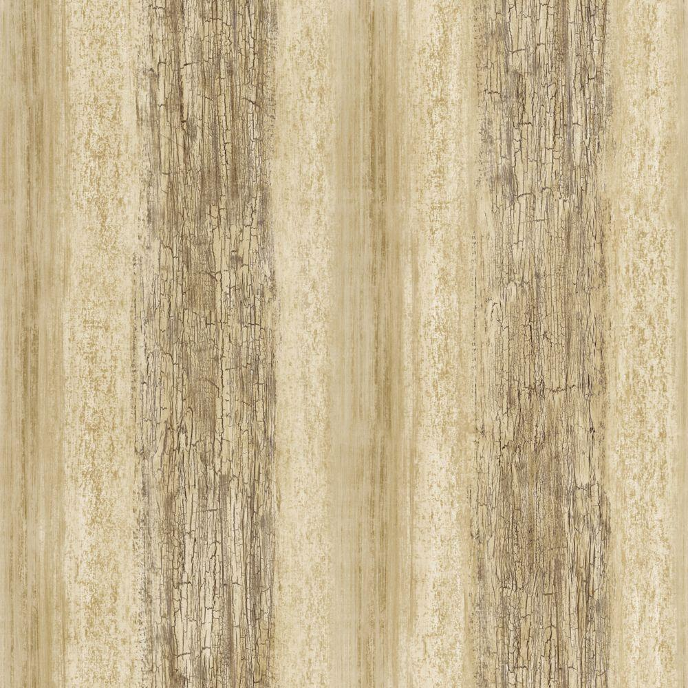 The Wallpaper Company 56 sq. ft. Brown and Beige Barn Board Wallpaper