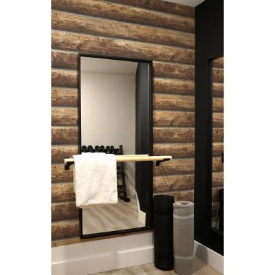 Log Cabin Vinyl Strippable Roll (Covers 30.75 sq. ft.)