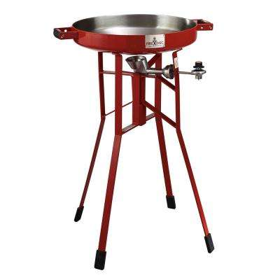 36 in. D Tall Portable Propane Cooker-Grill in Fireman Red