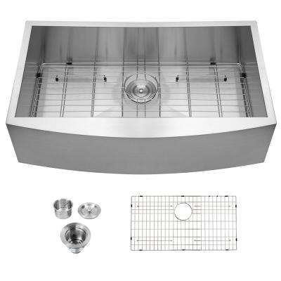 Stainless Steel 36 in. Single Bowl Farmhouse Apron Front Kitchen Sink