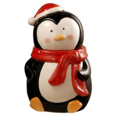 10 in. Dolomite Penguin Cookie Jar