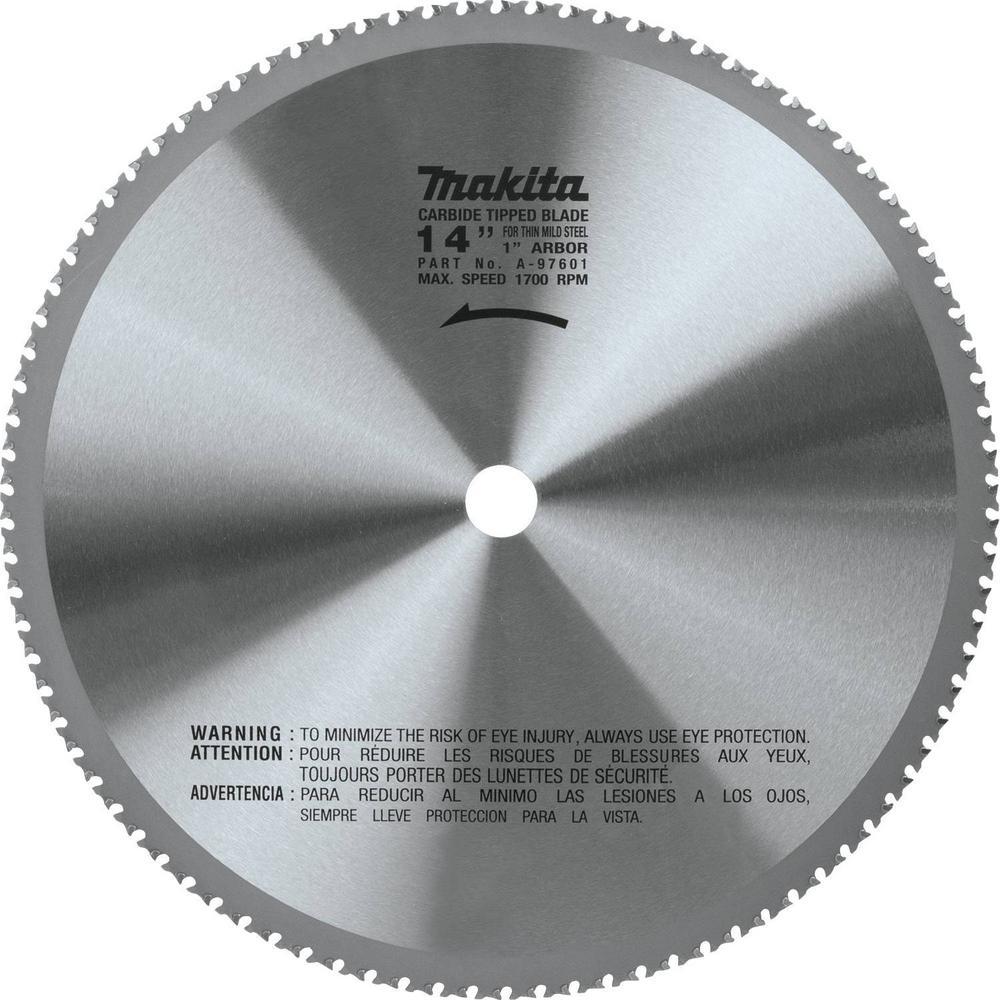 Makita 14 in  (90T) Carbide-Tipped Metal Cutting Blade Ferrous Metal - Thin  Gauge