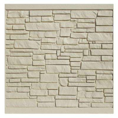 EcoStone 6 ft. H x 6 ft. W Beige Composite Fence Panel