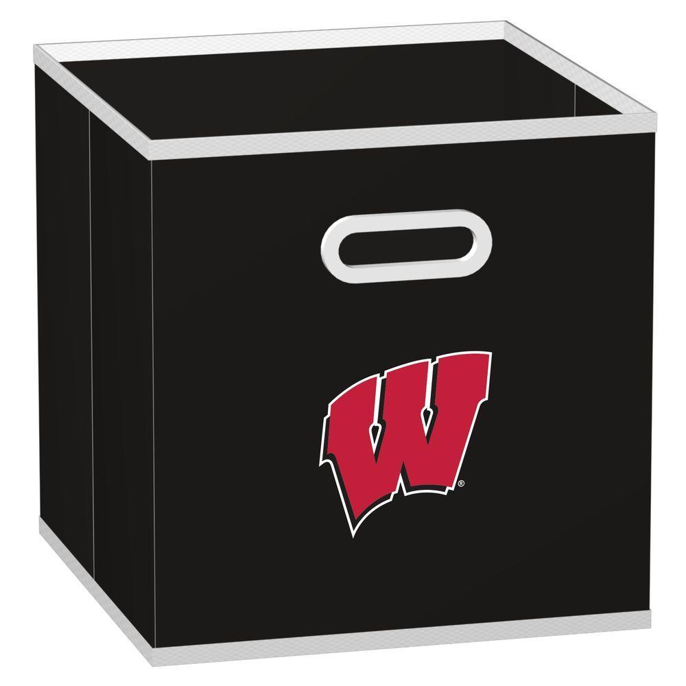 MyOwnersBox College Storeits University of Wisconsin 10-1/2 in. x 11 in. Black Fabric Storage Drawer