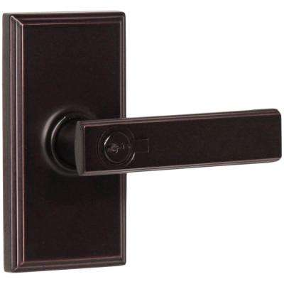 Elegance Oil-Rubbed Bronze Woodward Keyed Entry Utica Door Lever
