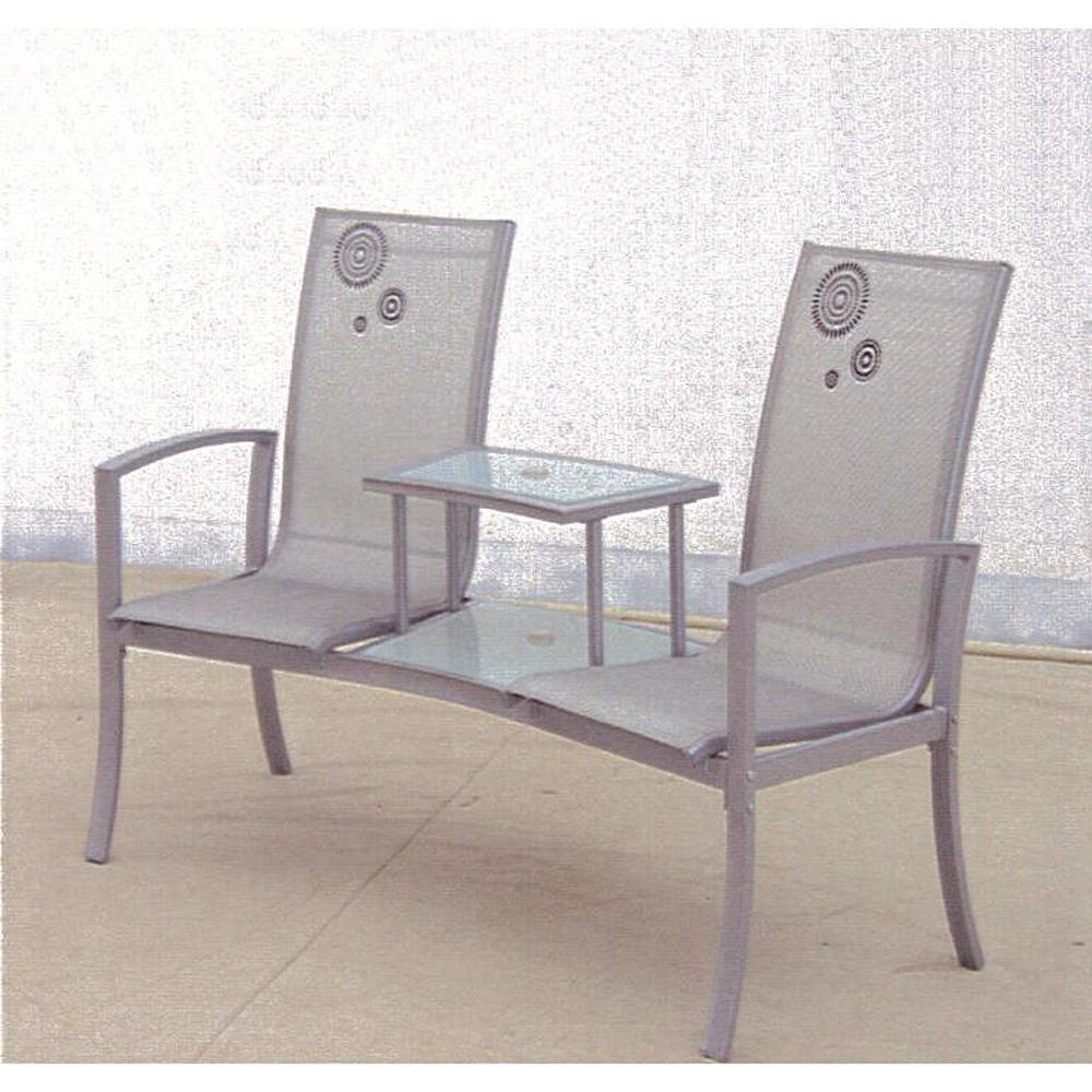 Internet 304744490 havana silver 1 piece metal patio conversation set